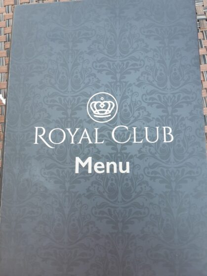 Меню завтрака Royal Club отеля Sunrise Arabian Beach