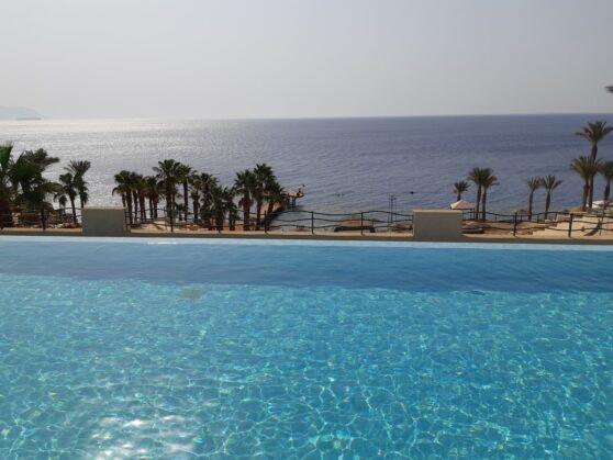 Бассейн Infinity отеля Grand Rotana Resort and Spa