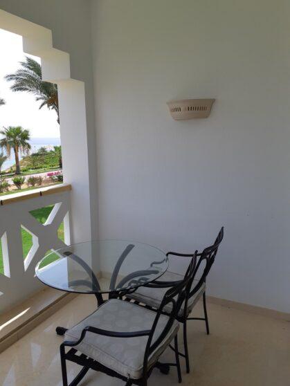 Балкон номера отеля Hyatt Regency Sharm